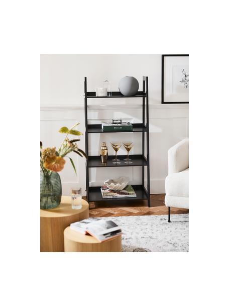 Libreria a scala nera Wally, Pannello di fibra a media densità (MDF), verniciato, Nero, Larg. 63 x Alt. 130 cm