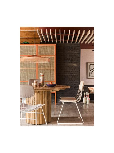 Sitzauflagen-Set für Metall-Stuhl Wire, 2-tlg., Bezug: 60% Leinen, 30% Baumwolle, Beige, Set mit verschiedenen Größen