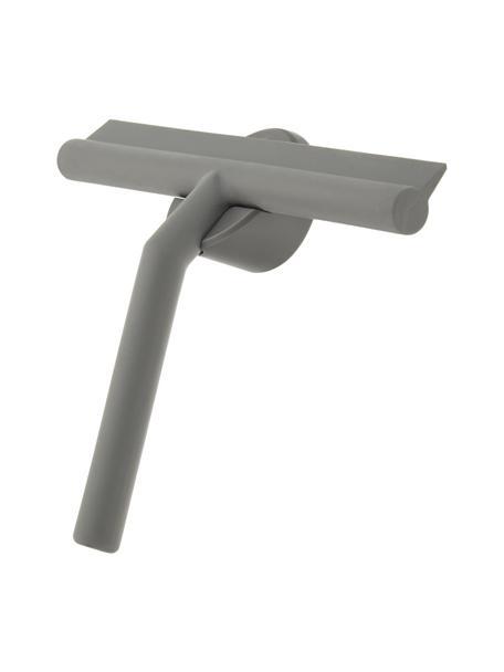 Tergivetro Nova con supporto a parete, Tergivetro: plastica (ABS), Labbro: silicone, Grigio, Larg. 21 x Alt. 5 cm