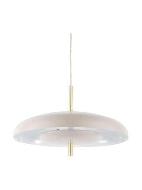 Scandi hanglamp Mathea, Baldakijn: gepoedercoat metaal, Lampenkap: gepoedercoat metaal, verm, Taupe, Ø 38  x H 8 cm