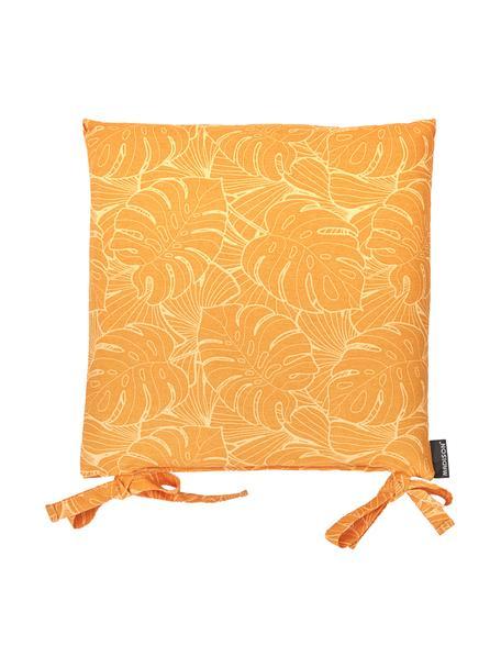 Cojín de asiento Palm, 50%algodón, 45%poliéster, 5%otras fibras, Amarillo, An 45 x L 45 cm