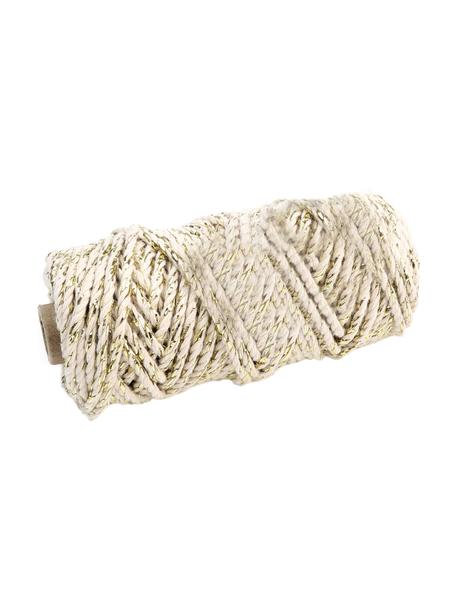 Geschenkschnur Twist mit Lurex-Faden, Baumwolle mit Lurexfaden, Beige, Goldfarben, L 25 m