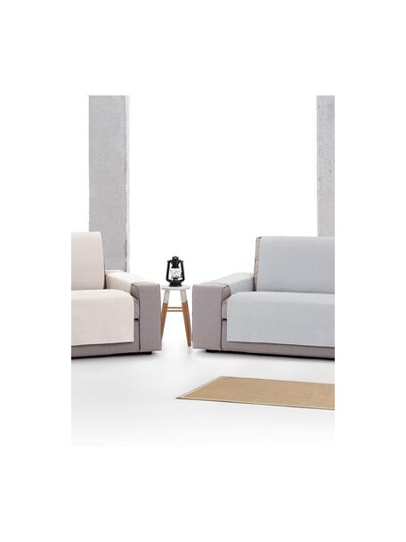 Funda de sofá Levante, 65%algodón, 35%poliéster, Gris, 2 plazas (110 x 220cm)