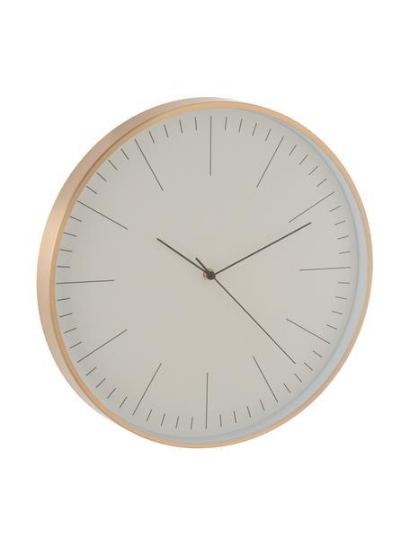 Zegar ścienny Gerbert, Aluminium powlekane, Odcienie mosiądzu, Ø 40 cm