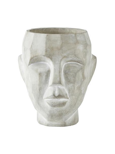 Portavaso viso in cemento Smile, Cemento, Grigio, Ø 19 x Alt. 22 cm