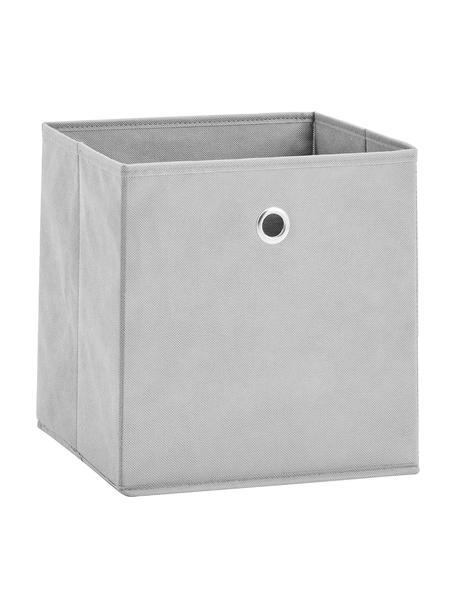 Opbergdoos Lisa, Bekleding: fleece, Frame: karton, metaal, Grijs, 28 x 28 cm