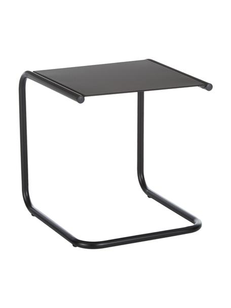 Mesa auxiliar para exterior de metal Club, Tablero: metal con pintura en polv, Estructura: aluminio con pintura en p, Negro, An 40 x F 40 cm