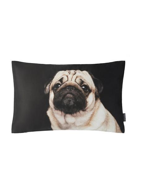 Poszewka na poduszkę Pascha, 100% bawełna, Czarny, beżowy, S 30 x D 50 cm