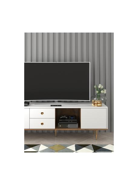 Tv-meubel Harmoni in wit, Frame: gelamineerd vezelplaat me, Wit, 160 x 53 cm