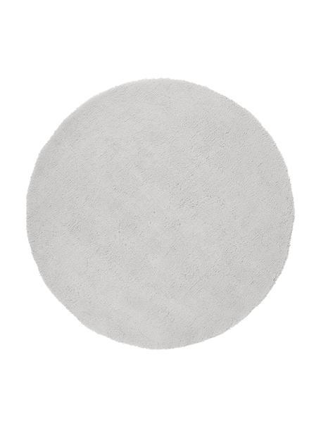 Flauschiger Runder Hochflor-Teppich Leighton in Hellgrau, Flor: Mikrofaser (100% Polyeste, Hellgrau, Ø 120 cm (Grösse S)