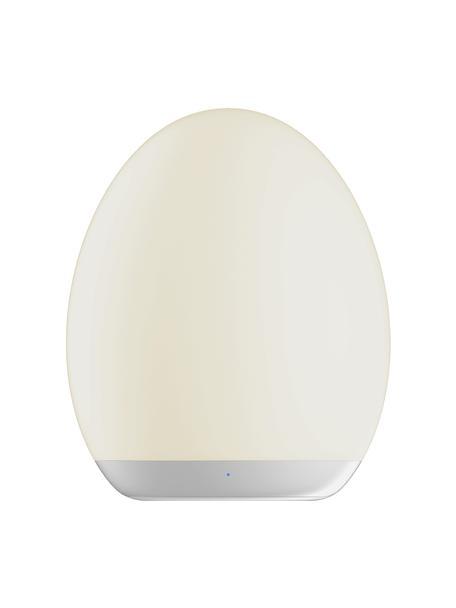 Lámpara de mesa para exterior regulable con luces de colores Nadia, portátil, Pantalla: plástico, Estructura: plástico, Blanco, Ø 9 x Al 11 cm