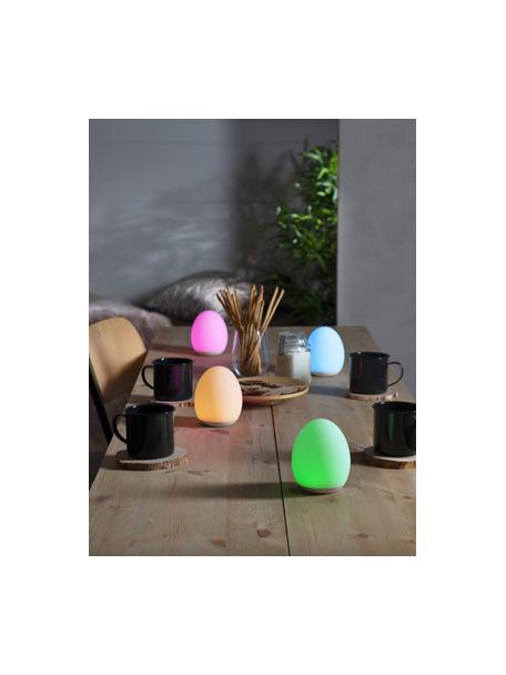 Mobile Aussentischlampe Nadia mit Farbwechsel, Lampenschirm: Kunststoff, Weiss, Ø 9 x H 11 cm