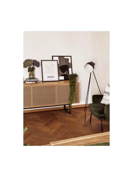 Kleine Tripod Leselampe Studio, Lampenschirm: Stahl, Mattschwarz, Ø 58 x H 130 cm