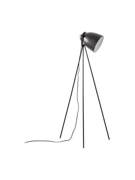 Kleine tripod leeslamp Studio, Lampenkap: staal, Lampvoet: staal, Mat zwart, Ø 58 x H 130 cm