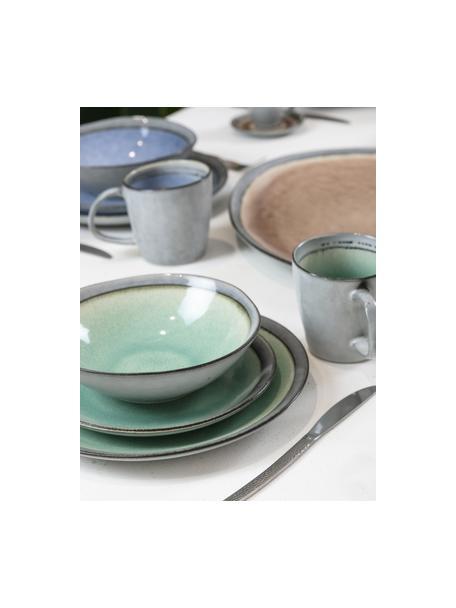 Kaffeetassen Bahamas mit farbiger Innenseite, 6er Set, Steingut, Grau, Mehrfarbig, Ø 10 x H 10 cm