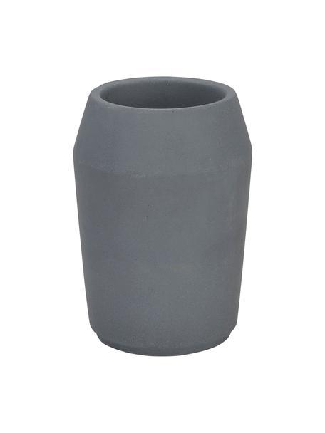 Zahnputzbecher Beddington, Beton, Grau, Ø 8 x H 11 cm
