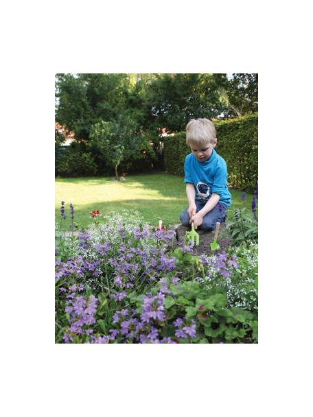Set de herramientas de jardinería infantil Little Gardener, 3pzas., Madera, metal con pintura en polvo, Verde, An 20 x Al 28 cm
