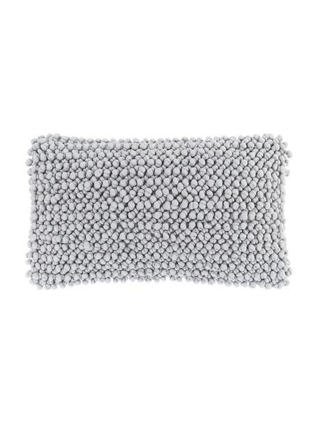 Federa arredo grigio chiaro con palline di tessuto Iona, Retro: 100% cotone, Grigio, Larg. 30 x Lung. 50 cm
