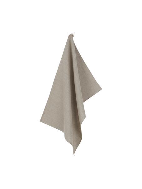 Ręcznik kuchenny z lnu Heddie, 100% len, Beżowy, S 50 x D 70 cm
