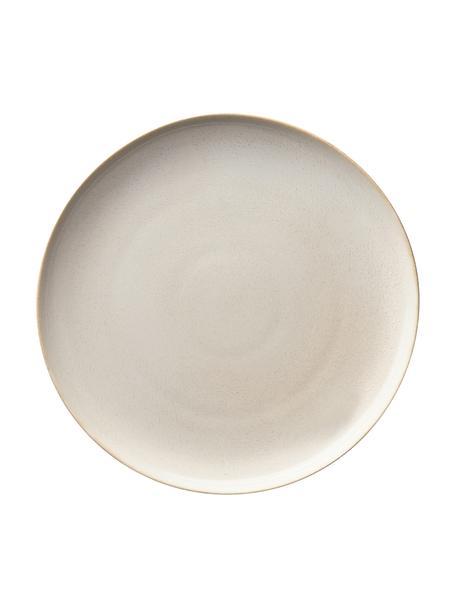 Plato postre de gres Saisons, 6uds., Gres, Beige, Ø 21 x Al 1 cm