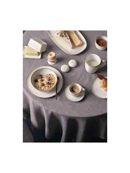 Piatto da colazione in gres biege Saisons 6 pz, Gres, Beige, Ø 21 x Alt. 1 cm