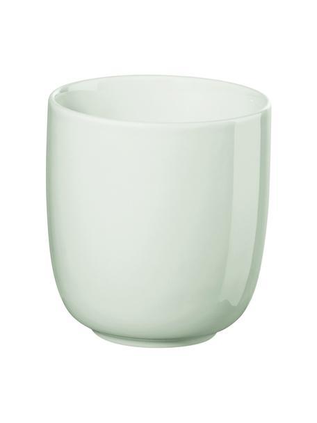 Tazza senza manico in porcellana verde menta lucida Kolibri 6 pz, Porcellana, Bianco, Ø 9 x Alt. 10 cm
