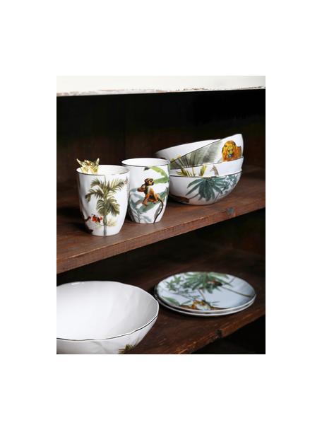 Tazas originales Animaux, 4uds., Porcelana, Multicolor, Ø 8 x Al 10 cm