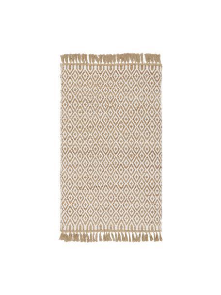 Handgefertigter Jute-Teppich Ramos, 100% Jute, Beige, B 80 x L 150 cm (Größe XS)