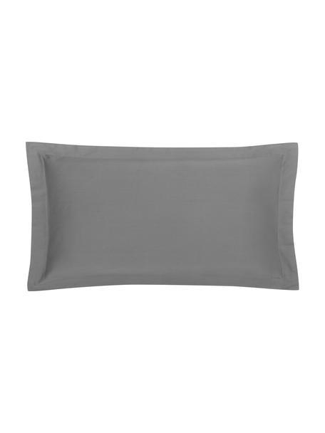 Funda de almohada de satén Premium, 50x85cm, Gris oscuro, An 50 x L 85 cm