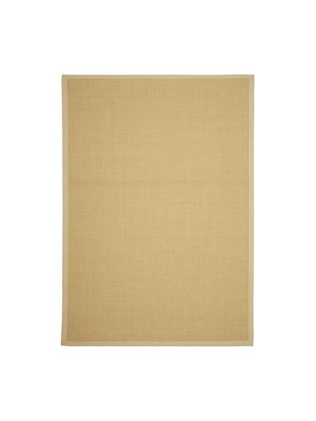 Alfombra artesnal de sisal Nala, Parte superior: sisal, Borde: algodón, Reverso: poliéster, Beige, An 80 x L 150 cm (Tamaño XS)