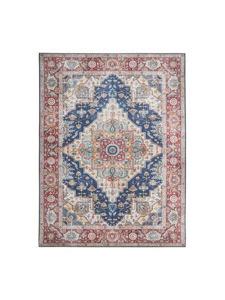 Tappeto vintage Sylla, Blu, rosso, Larg. 120 x Lung. 160 cm (taglia S)