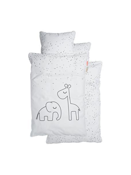 Biancheria da letto Dreamy Dots, 100% cotone, certificato Oeko-Tex, Grigio, 100 x 140 cm + 1 cuscino 40 x 60 cm