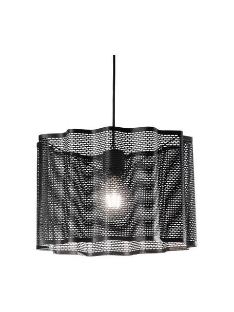 Lampada a sospensione nera Glicine, Paralume: metallo rivestito, Baldacchino: metallo rivestito, Nero, Ø 40 x Alt. 28 cm