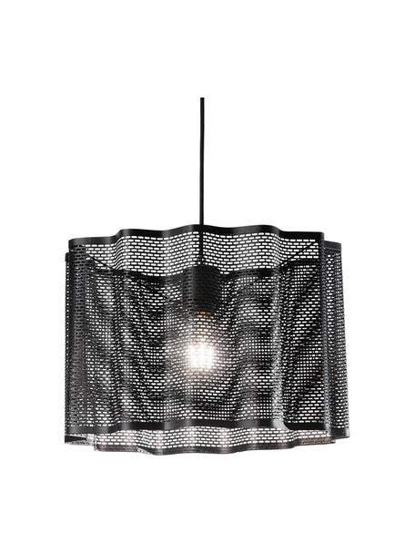 Lámpara de techo Glicine, Pantalla: metal recubierto, Anclaje: metal recubierto, Cable: plástico, Negro, Ø 40 x Al 28 cm