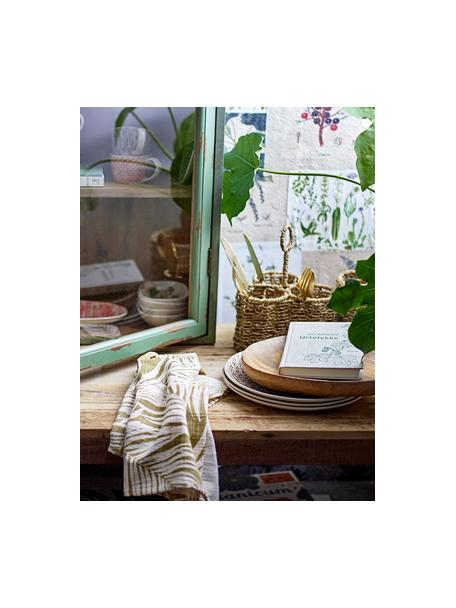 Katoenen theedoekenset Ivora met tropisch motief, 2-delig, 100% katoen, Multicolour, 45 x 70 cm