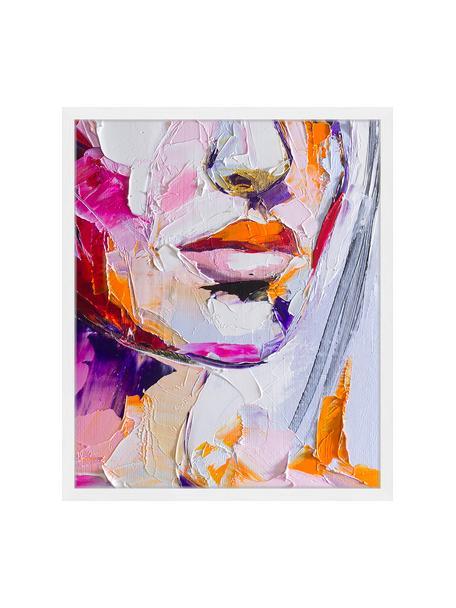 Stampa digitale incorniciata Cranberry In Sugar, Immagine: stampa digitale su carta,, Cornice: legno verniciato, Multicolore, Larg. 53 x Alt. 63 cm