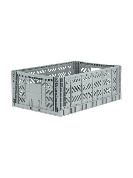 Klappbox Grey, stapelbar, gross, Recycelter Kunststoff, Grau, 60 x 22 cm