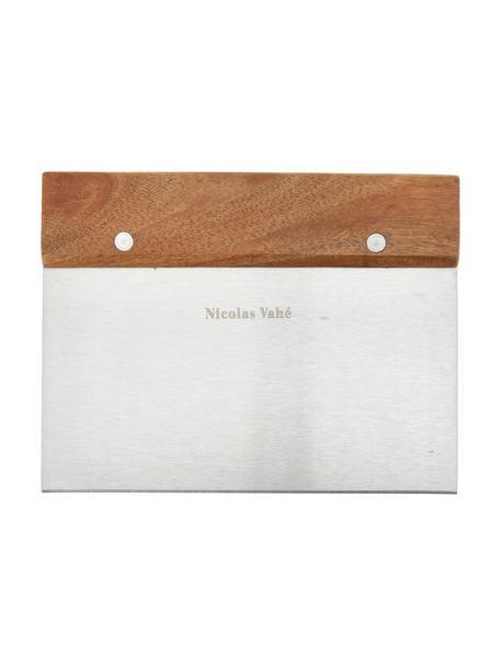 Teigschneider Puka aus Akazienholz und Edelstahl, Griff: Akazienholz, Akazienholz, Edelstahl, 15 x 12 cm