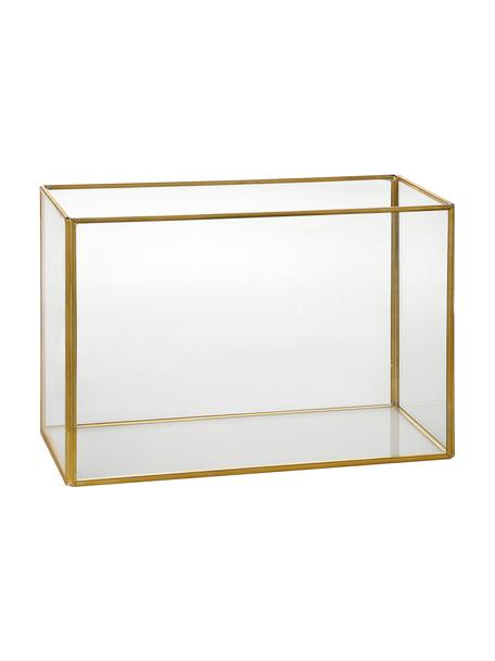 Windlicht Terro, Gestell: Metall, Goldfarben, 29 x 20 cm