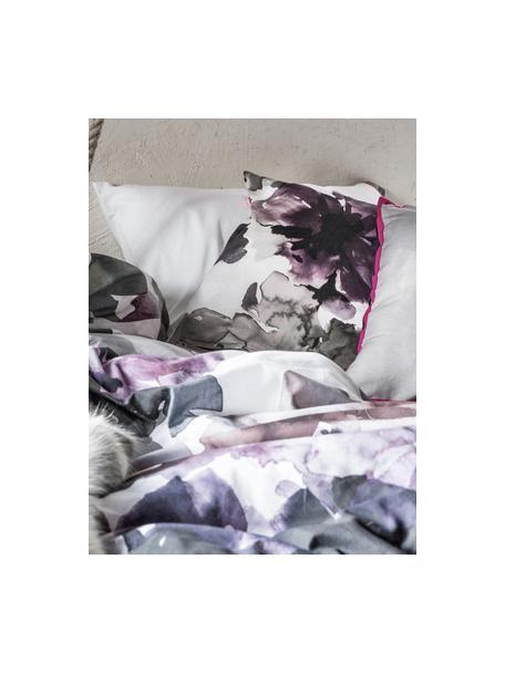 Set lenzuola in cotone Sunset Garden, Tessuto: Renforcé Numero di fili 1, Bianco, multicolore, 240 x 270 cm + 2 federe 50 x 75 cm