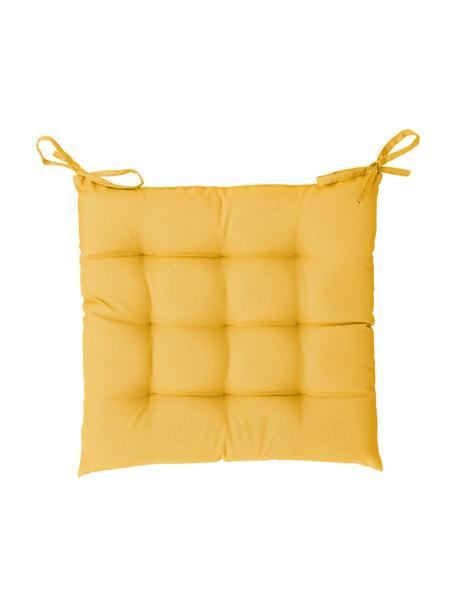 Zweifarbig gewebtes Outdoor-Sitzkissen St. Maxime, Gelb, Schwarz, 38 x 38 cm