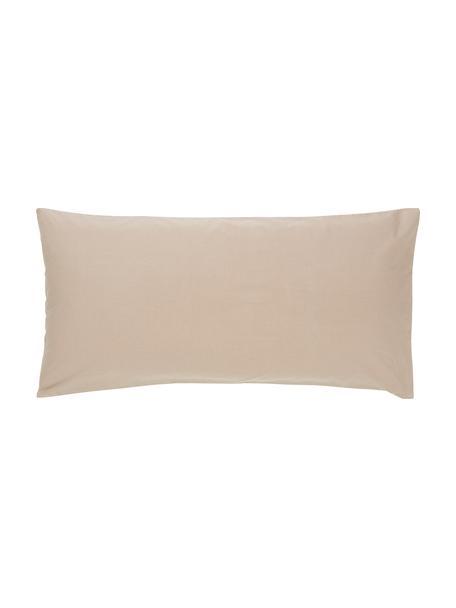 Federe in cotone percalle color taupe Elsie 2 pz, Tessuto: percalle Numero di fili 2, Beige, Larg. 40 x Lung. 80 cm