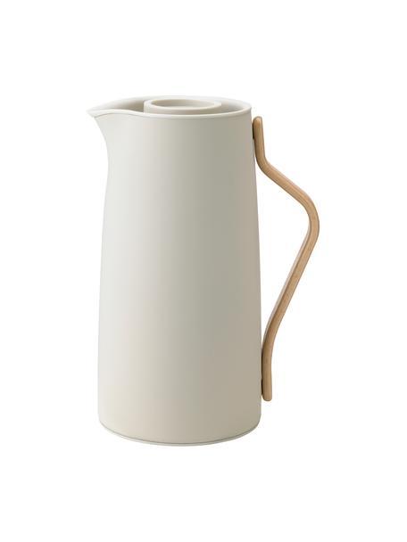 Caraffa isolante beige opaca Emma, 1.2 L, Manico: legno di faggio, Beige, 1.2 L