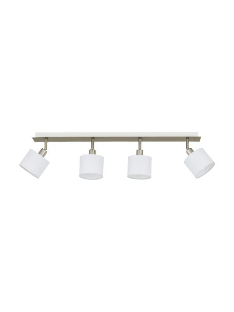 Riel Casper, estilo clásico, Fijación: metal niquelado, Estructura: metal niquelado, Plateado, blanco, An 78 x Al 7 cm