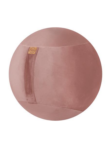 Balón suizo de terciopelo Velvet, Funda: terciopelo de poliéster, Rosa palo, Ø 65 cm