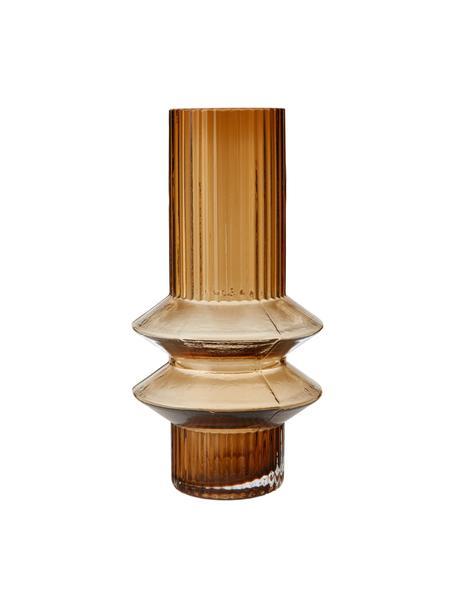 Vaso di design in vetro Rilla, Vetro, Color ambra, Ø 10 x Alt. 21 cm