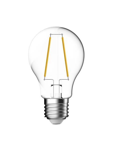 E27 Leuchtmittel, 7W, warmweiß, 3 Stück, Leuchtmittelschirm: Glas, Leuchtmittelfassung: Aluminium, Transparent, Ø 6 x H 10 cm