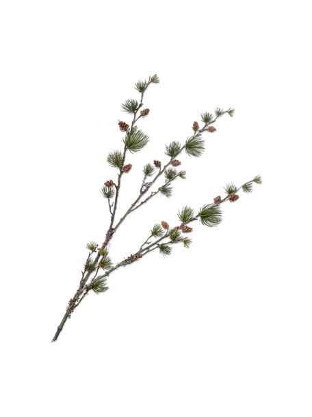 Flores artificial Kiefernzweig, Plástico, alambre de metal, Marrón, verde, L 97 cm