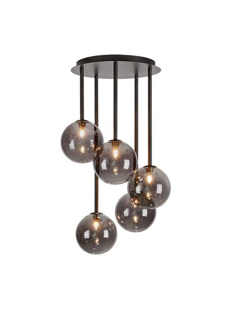 Lampada a sospensione Universe, Paralume: vetro, Baldacchino: metallo rivestito, Nero, Ø 40 x Alt. 68 cm