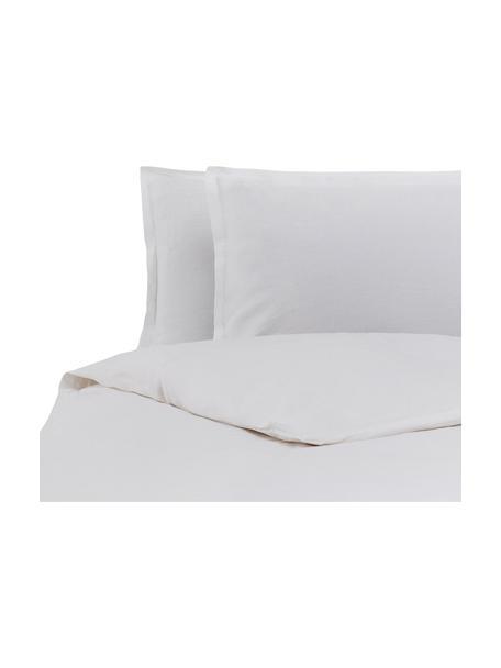 Parure copripiumino in lino Soffio, Bianco, 250 x 260 cm + 2 federe 50 x 80 cm